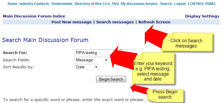HOW TO SEARCH THE FORUMS