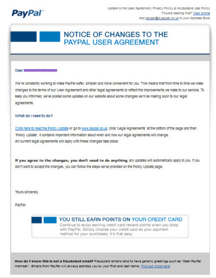 Phishing Scam - be aware