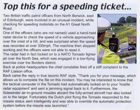 Speeding ticket...